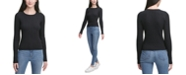 Calvin Klein Jeans Ribbed-Knit Crewneck Sweater