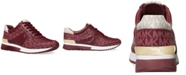 Michael Kors Women's Allie Wrap Trainer Logo Sneakers