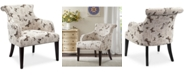 Madison Park Crew Fabric Butterfly Accent Chair, Quick Ship