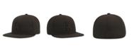 New Era Kids' Los Angeles Dodgers MLB Black on Black Fashion 59FIFTY Cap
