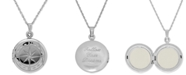 Macy's Compass Locket Necklace in Sterling Silver
