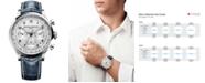 Baume & Mercier Men's Swiss Automatic Chronograph Capeland Blue Leather Strap Watch 44mm M0A10063