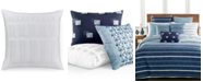 """Hotel Collection Colonnade Blue 20"""" Square Decorative Pillow"""