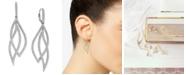 Eliot Danori Pavé Crystal Leaf Earrings, Created for Macy's