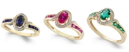 Macy's Sapphire (5/8 ct. t.w.) & Diamond (1/10 ct. t.w.) Ring in 14k Gold (Also in Emerald & Ruby)
