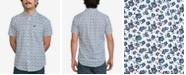 RVCA Men's Porcelain Floral-Print Pocket Shirt