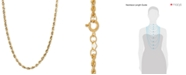 "Macy's 14k Gold Necklace, 18"" Rope Chain (1-3/4mm)"
