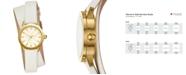 Tory Burch Women's Gigi Ivory Leather Wrap Strap Watch 28mm