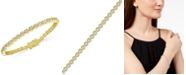 Victoria Townsend Diamond Miracle Line Tennis Bracelet (1/4 ct. t.w.) in 18k Gold-Plated Sterling Silver or Sterling Silver