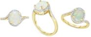 Macy's Opal (1-1/2 ct. t.w.) & Diamond (1/6 ct. t.w.) Ring in 14k Gold