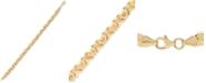 """Macy's """"I Heart Mom"""" Stampato Link Bracelet in 10k Gold"""
