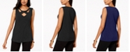 JM Collection Petite Twist-Neck Tank Top, Created for Macy's
