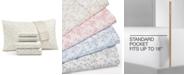 Sunham CLOSEOUT! Norvara 500 Thread Count Sateen 6-Pc. Printed Queen Sheet Set
