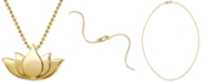 """Alex Woo Lotus Blossom 16"""" Pendant Necklace in 14k Gold"""