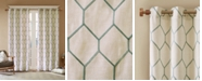 "Madison Park Brooklyn 50"" x 84"" Grommet Top Metallic Geo Embroidered Window Panel"