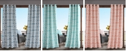 Madison Park Daven Grommets Printed Fretwork 3M Scotchgard Outdoor Panel Collection