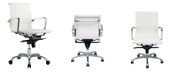 Moe's Home Collection Omega Office Chair Low Back White