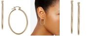 Macy's Corrugated Medium Hoop Earrings in 14k Gold