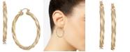 Macy's Large Twist Hoop Earrings in 14k Gold