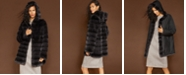 The Fur Vault Reversible Rabbit Fur Coat