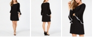 MSK Petite Contrast Bell-Sleeve Dress