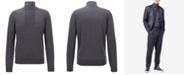 Hugo Boss BOSS Men's Zip-Neck Virgin Wool Sweater