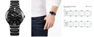 Rado Men's Swiss Automatic Centrix Black High-Tech Ceramic & Stainless Steel Bracelet Watch 42mm