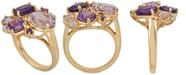 Macy's Multi-Gemstone Cluster Statement Ring (4-1/3 ct. t.w.) in 14k Gold-Plated Sterling Silver