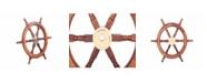 Benzara Decorative Ship Wheel