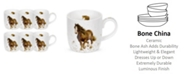 "Royal Worcester Wrendale 11 oz. Horse Mug ""Gigi"" - Set of 6"