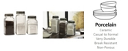 IMAX Dyer Glass Canisters - Set of 3
