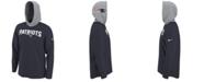 Nike Men's New England Patriots Helmet Hood Dri-FIT Cotton Long Sleeve T-Shirt