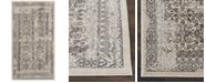 """Kathy Ireland Home KI34 Silver Screen KI342 Gray 2'2"""" x 3'9"""" Area Rug"""