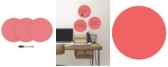 Brewster Home Fashions Coral Dry Erase Dot Decals Set Of 6