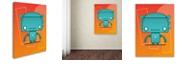 """Trademark Global Craig Snodgrass 'Retro Robot Aqua' Canvas Art, 14"""" x 19"""""""