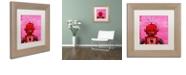 """Trademark Global Craig Snodgrass 'Orangebot' Matted Framed Art, 11"""" x 11"""""""