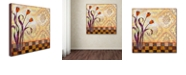 "Trademark Global Rachel Paxton 'Flowers and Tiles' Canvas Art, 35"" x 35"""