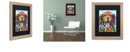 "Trademark Global Dean Russo 'Dog Is Love' Matted Framed Art, 16"" x 20"""