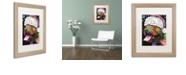 "Trademark Global Dean Russo 'Christmas Pitbull' Matted Framed Art, 16"" x 20"""
