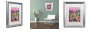 "Trademark Global Dean Russo 'Border Collie Love 2' Matted Framed Art, 16"" x 20"""
