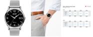 Tissot Men's Swiss Heritage Visodate Gray Stainless Steel Mesh Bracelet Watch 40mm