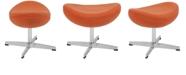 Flash Furniture Orange Wool Fabric Ottoman
