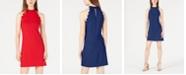 BCX Juniors' Scalloped Scuba Crepe Halter Dress