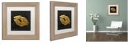 "Trademark Global Color Bakery 'Golden Lips' Matted Framed Art, 11"" x 11"""