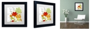 "Trademark Global Color Bakery 'Aria I' Matted Framed Art, 11"" x 11"""