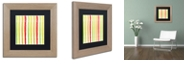 "Trademark Global Color Bakery 'Aria Iv' Matted Framed Art, 11"" x 11"""