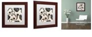 "Trademark Global Color Bakery 'Stylesque I' Matted Framed Art, 11"" x 11"""