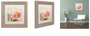 "Trademark Global Color Bakery 'Bonjour Two' Matted Framed Art, 11"" x 11"""