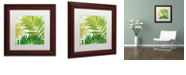"Trademark Global Color Bakery 'Brasilia Ii' Matted Framed Art, 11"" x 11"""