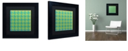 """Trademark Global Color Bakery 'Houndstooth I' Matted Framed Art, 11"""" x 11"""""""